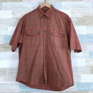 Plaid Camp Shirt Red Brown Duluth Trading Co